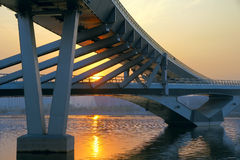 Bridge and sunset Royalty Free Stock Photo