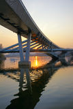 Bridge and sunset Stock Photography