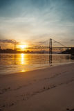 Bridge at Sunset Royalty Free Stock Photography