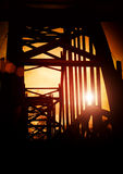 Bridge in sunset Royalty Free Stock Photography