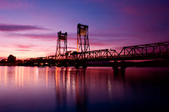 Bridge Sunset Royalty Free Stock Photos