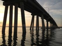 Bridge. Sunset Bahia sea summer Royalty Free Stock Photo