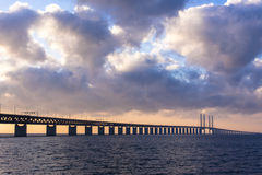 Bridge in sunset stock photography