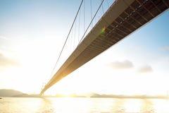 Bridge at sunset moment Stock Images