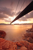 Bridge at sunset moment Stock Photo
