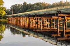 Bridge at sunset Royalty Free Stock Photo