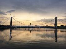Bridge At Sunset stock image