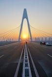 Bridge and sunset Royalty Free Stock Photos