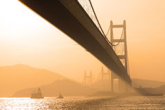 Bridge in sunset , under view Stock Photography