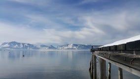 Bridge. Sunshine after snow at lake tahoe stock photo