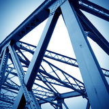 Bridge support beams Stock Images