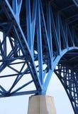 Bridge support beams royalty free stock image