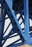 Bridge support beams Royalty Free Stock Image