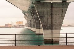 The bridge support Royalty Free Stock Image