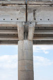 Bridge support. Big old concrete bridge support Stock Photography