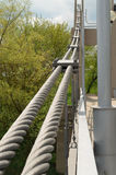 The bridge is supported by cables. Royalty Free Stock Photos