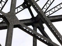 Bridge Supports. Supports for railroad bridge over Fish Creek, Calgary, Alberta, Canada Stock Images