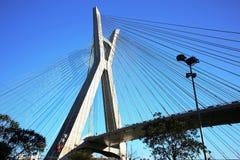 Bridge suspended on cables in sao paulo Brazil Stock Photo