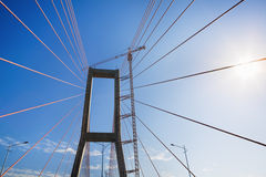 Bridge suspension Royalty Free Stock Photos