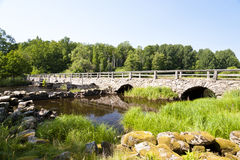 Bridge in Sweden Royalty Free Stock Images