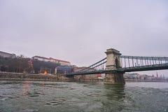 Bridge Szechenji in Budapest. Stock Photos