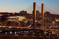 Bridge in Tacoma Washington at Night stock photography