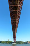 Bridge on Tagus river, Lisbon (Portugal) Royalty Free Stock Photos
