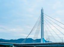 Bridge with a tall column Stock Photos