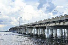 A bridge at tampa bay Stock Images