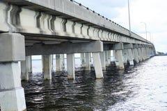 A bridge at tampa bay Royalty Free Stock Images