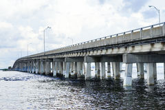 A bridge at tampa bay. Bridge at tampa bay, taken in Florida Stock Images