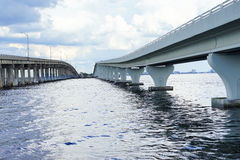A bridge at tampa bay. Bridge at tampa bay, taken in Florida Stock Photography