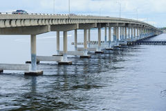 A bridge at tampa bay. Bridge at tampa bay, taken in Florida Stock Image
