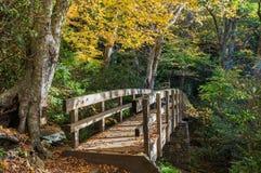 Bridge Tanawha Trail Western North Carolina Royalty Free Stock Photography