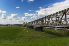 The bridge in Tczew stock image