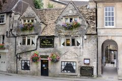 The Bridge tea rooms. The Bridge Tea Room at Bradford on Avon, Double Winners of the UK's Top Tea Place and the Home of West Country Afternoon Teas Royalty Free Stock Photo