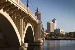 Bridge Into Tempe, Arizona Royalty Free Stock Photo