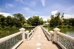 Bridge of temple. In Thailand Royalty Free Stock Photos
