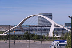 Bridge. Tercer Milenio bridge, Zaragoza, Spain Royalty Free Stock Photography
