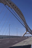 Bridge. Tercer Milenio bridge, Zaragoza, Spain Stock Photo