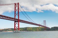 Bridge of 25th April, Lisbon Royalty Free Stock Photography