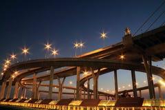Bridge in Thailand. Industrial Circle Bridge in Bangkok, Thailand Royalty Free Stock Photo
