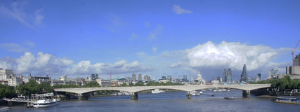 Bridge in thames river. A picture of a bridge in thames river in london,in a summer day of june Royalty Free Stock Images