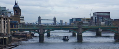 Bridge in  thames river Stock Photography