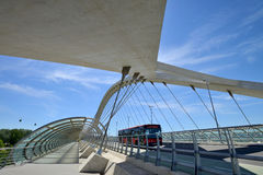 Bridge of the third millenium in Zaragoza Stock Photo