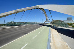Bridge of the third millenium in Zaragoza Royalty Free Stock Images