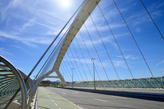 Bridge of the third millenium in Zaragoza Royalty Free Stock Photography
