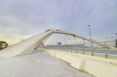 Bridge of the third millenium in Zaragoza Stock Photography