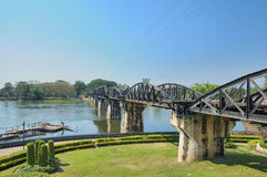 Bridge though river Kwai. Death Railway between Thailand and Burma Royalty Free Stock Photography