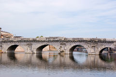 The bridge of Tiberius in Rimini Royalty Free Stock Photos